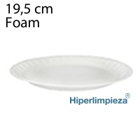100 Platos desechables foam 195mm