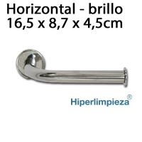 Portarrollos horizontal inoxidable brillo