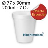 1000 Vasos Termicos Hiper foam 7 oz 200ml