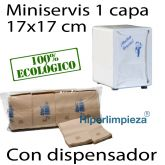 16000 miniservis nature 17x17 con dispensador blanco