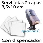 4800 servilletas blancas 17x20 con dispensador vertical