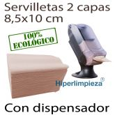 4800 servilletas nature 17x20 con dispensador vertical