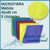 5 Bayetas Microfibra 200gr 5 COLORES Outlet