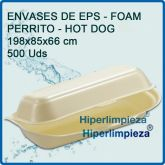 500 Envases de Hot Dog Foam