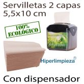 7200 servilletas nature 11x20 con dispensador mesa
