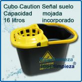 Cubo de fregona Caution 16 litros