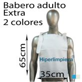 Baberos desechables adulto papel extra 125uds