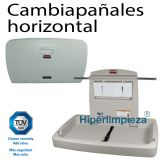 Cambiador de pañales de pared horizontal Rubbermaid