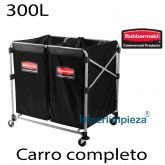 Carro de ropa Rubbermaid 300L c/ 2 bolsas 150L