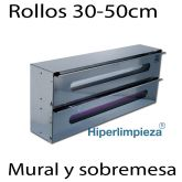 Dispensador aluminio film doble para pared