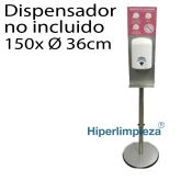 Dispensador de gel de pie 130cm con letrero