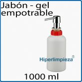 Dispensador de jabon empotrable 1000 ml