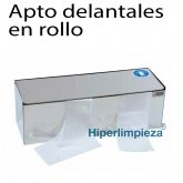 Dispensador para delantal en rollo brillo acero