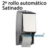 Dispensador satinado de papel higienico domestico