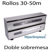 Dispensador sobremesa doble para film o aluminio 30 a 50 cm