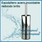 Escobillero redondo acero inoxidable brillo OUTLET