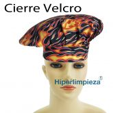 Gorros chef flames 2uds