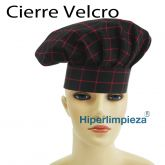 Gorros chef red square 2uds