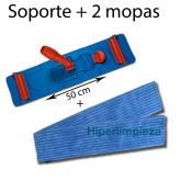 Kit soporte + 2 mopas wet 50 cm