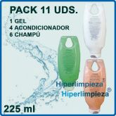 Pack nº2 OUTLET 11 uds champú, gel y acondicionador 225 ml