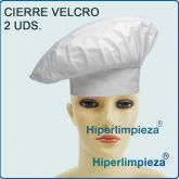 Pack 2 Gorros Chef Blanco