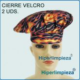 Pack 2 Gorros Chef Flames