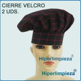Pack 2 Gorros Chef Red Square
