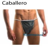 Tangas desechable caballero negro 100uds