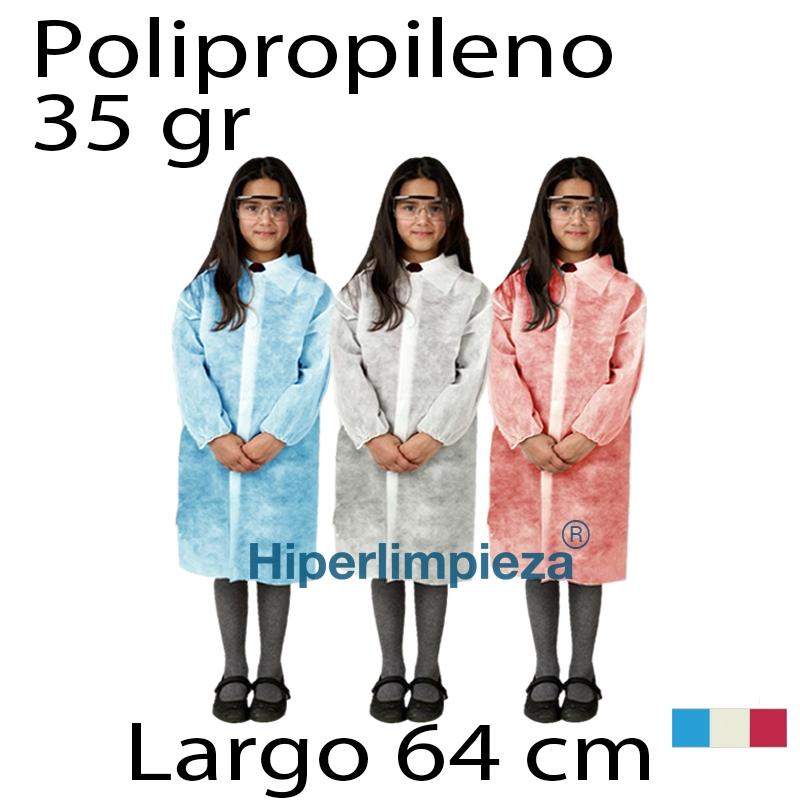 496471b33 Batas desechables infantiles 35gr 64cm 50uds