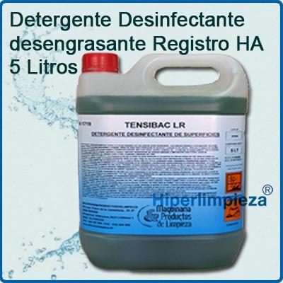 Detergente desinfectante desengrasante registro ha 5 litros for Productos de limpieza para cocina