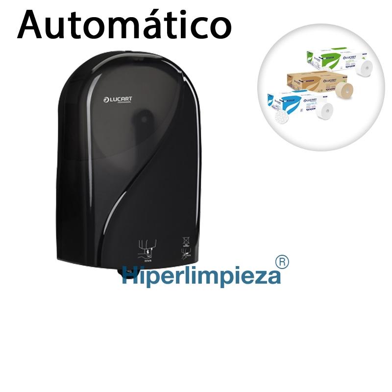 Dispensador autom tico para papel higi nico negro for Dispensador de papel higienico