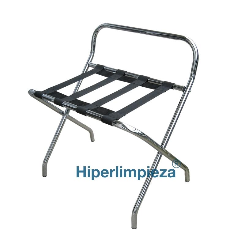 Rack metal cromado con respaldo for Metal cromado