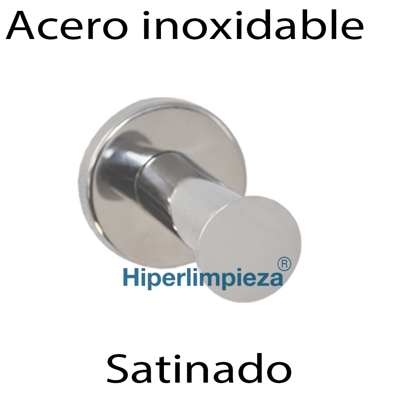 Toallero de percha acero inoxidable satinado for Toalleros de acero inoxidable